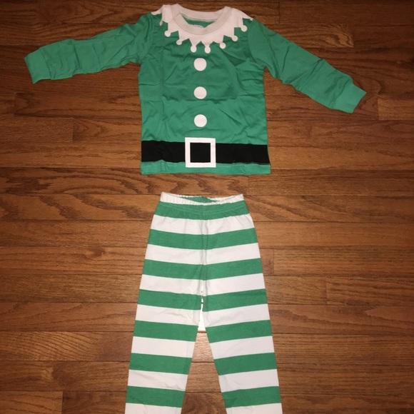 kids infant toddler elf christmas pajamas pjs - Elf Christmas Pajamas